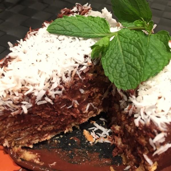 Tarta de galleta y chocolate sin azucar - 7
